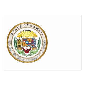 Estado de grande selo de Havaí Modelo Cartões De Visita