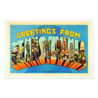 Estado de lembrança das viagens vintage do PA de Impressão De Foto
