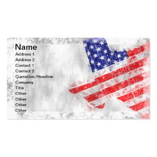 Estado do Texas da bandeira americana Modelos Cartões De Visitas