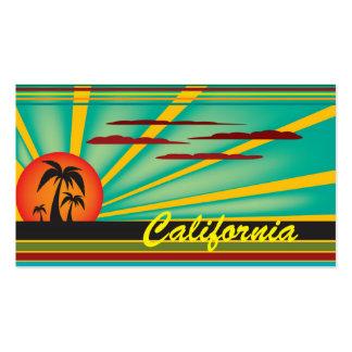 Estado ensolarado de Califórnia Cartão De Visita