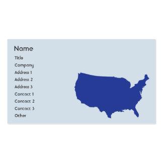 Estados Unidos da América - negócio Modelos Cartao De Visita