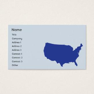 Estados Unidos da América - negócio Cartão De Visitas