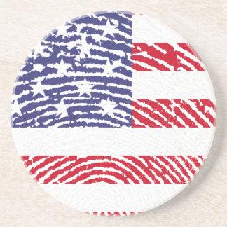 Estados Unidos embandeiram a impressão digital Porta Copos De Arenito