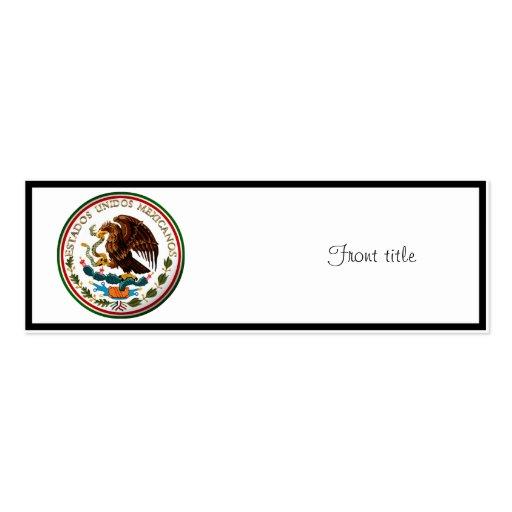 Estados Unidos Mexicanos (Eagle da bandeira mexica Cartoes De Visitas