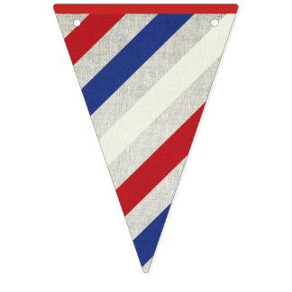 Estamenha listrada da bandeira do Dia da