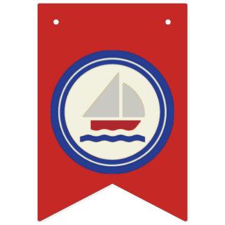 Estamenha náutica do vermelho, a branca e a azul bandeirinhas