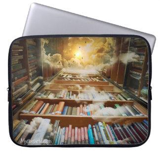 Estante infinita Mystical que alcança à eternidade Capa Para Computador