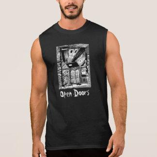 Estares abertos camisas sem mangas