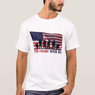 Estas cores nunca funcionam o t-shirt camiseta