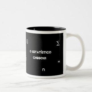 Estatístico Caneca De Café Em Dois Tons