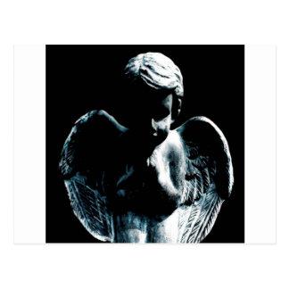 Estátua abstrata do bebê do anjo cartão postal