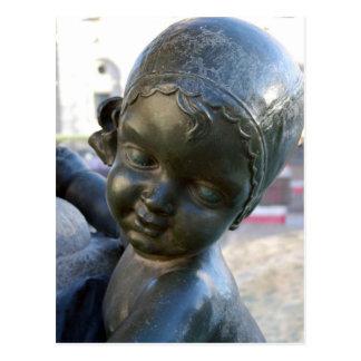 Estátua angélico em Barcelona, cartão da espanha Cartão Postal
