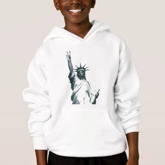 Estátua da liberdade… com uma torção da paz
