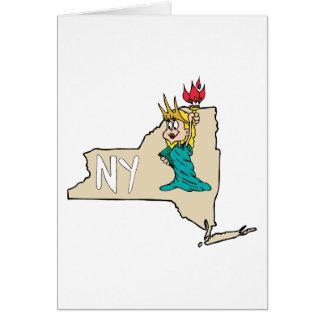 Estátua da liberdade do mapa dos desenhos animados cartoes
