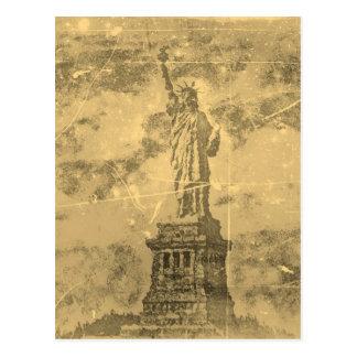 Estátua da liberdade New York #2 do vintage - Cartão Postal