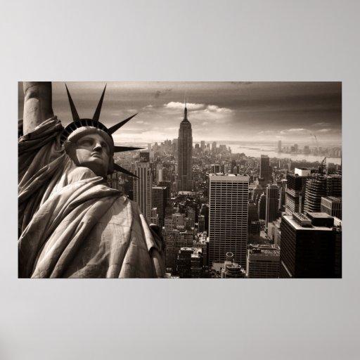 Estátua da liberdade, New York, poster Pôster