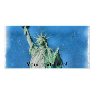Estátua da liberdade, pintura das aguarelas de New Cartão Com Foto