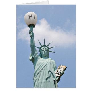 Estátua da liberdade referente à cultura cartão
