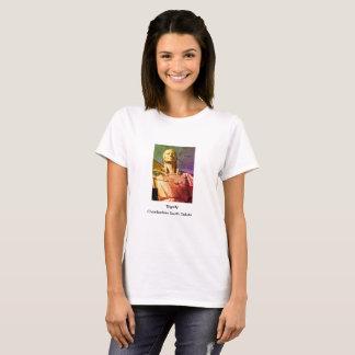Estátua da mulher do nativo americano camiseta