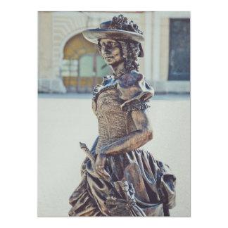 Estátua da senhora convites