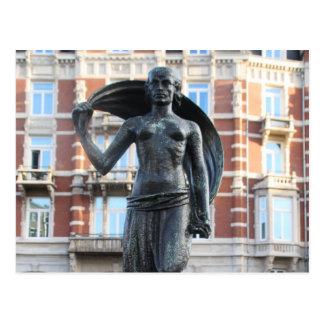 Estátua da senhora Fortuna, Amsterdão Cartão Postal