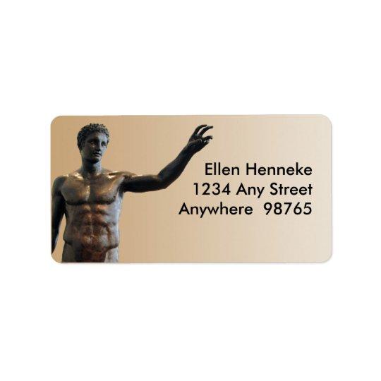 Estátua de Antikythera Etiqueta De Endereço