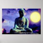 Estátua de Buddha com sol Posteres