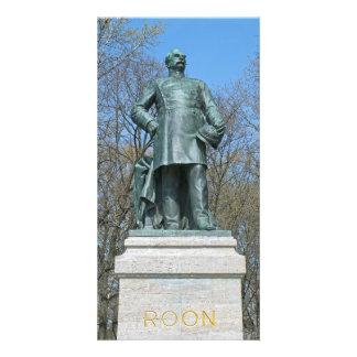 Estátua de Roon em Berlim Cartões Com Foto Personalizados
