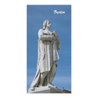 Estátua de Schiller em Berlim Cartao Com Foto Personalizado