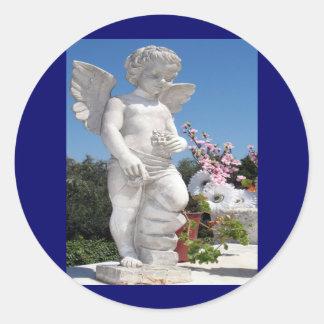 Estátua do anjo adesivo