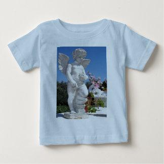Estátua do anjo na luz - azul camisetas