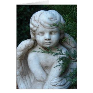 Estátua do querubim, Feliz Natal Cartão Comemorativo
