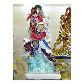 Estátua religiosa chinesa cartão postal