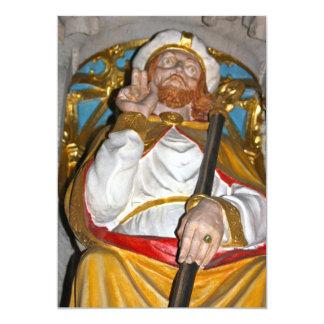 Estátua religiosa no convite da catedral de Ripon