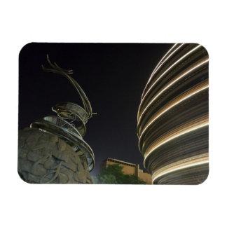 """Estátua Taipei 3"""" do dragão"""" ímã x4 Foto Com Ímã Retangular"""