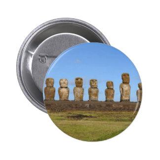 Estátuas da Ilha de Páscoa Botons
