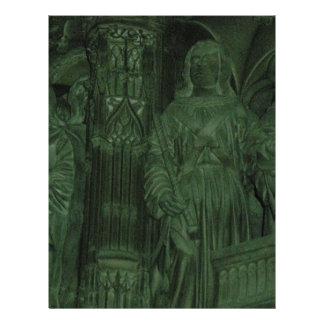 Estátuas francesas da igreja modelos de papel de carta