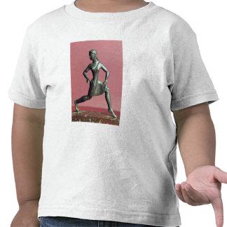 Estatueta de um corredor da menina, t-shirts
