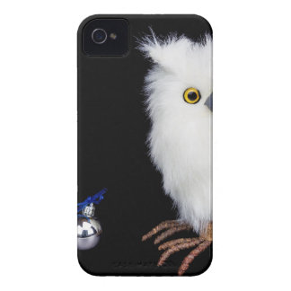 Estatueta nevado branca da coruja com Natal de Capa Para iPhone