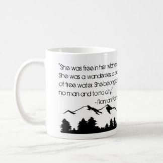 Estava livre em sua caneca de café do Wildness