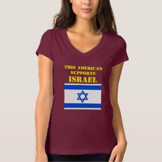 ESTE AMERICANO APOIA ISRAEL CAMISETA