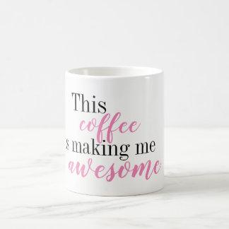 Este café está fazendo-me a caneca impressionante