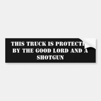 este caminhão é protegido pelo bom senhor e… adesivo para carro