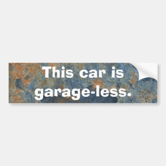 Este carro é Garageless Adesivo Para Carro