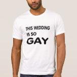 Este casamento é tão alegre tshirt