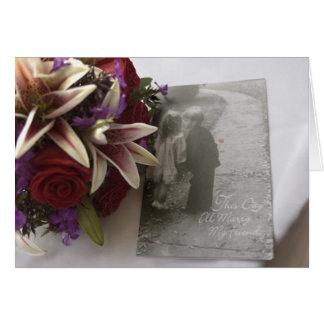 Este dia eu casarei meu @-> do amigo-- cartão comemorativo
