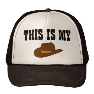 Este é meu chapéu de vaqueiro boné