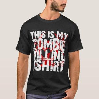 Este é meu t-shirt da matança do zombi camiseta