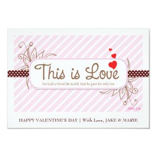 ESTE É o cartão dos namorados do AMOR (o rosa) Convite 8.89 X 12.7cm