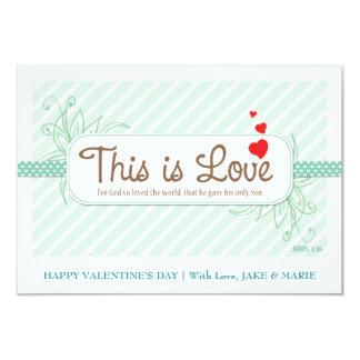 Este é o cartão dos namorados do amor (o verde da convite 8.89 x 12.7cm